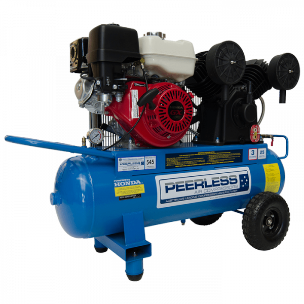 Peerless PV25P Portable Petrol Air Compressor 545LPM