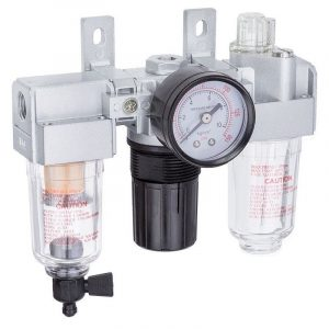 "Geiger 1/4"" Mini Trade Filter Regulator and Lubricator"