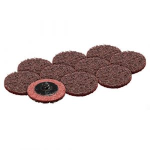 "50mm / 2"" MEDIUM Maroon Abrasive disc x 10 GPA1528X10"
